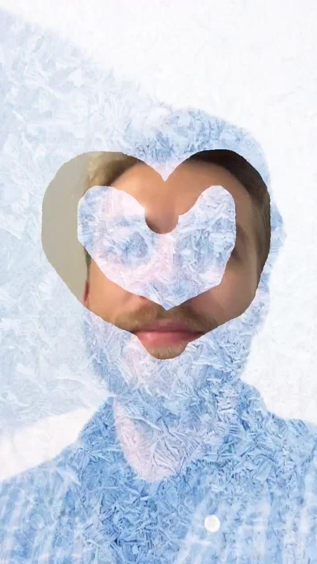 Instagram filter Frozen window