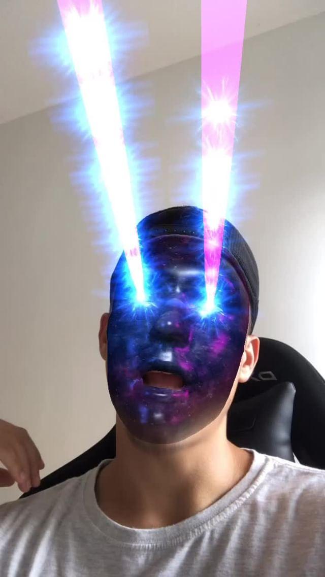 Instagram filter Face Galaxy Laser