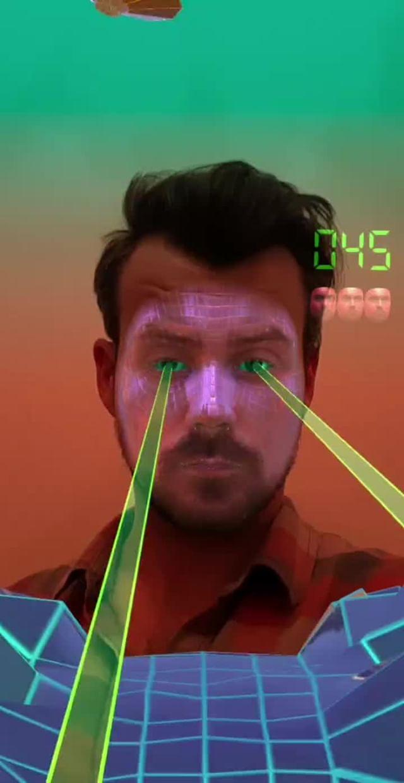 Instagram filter Face Invaders