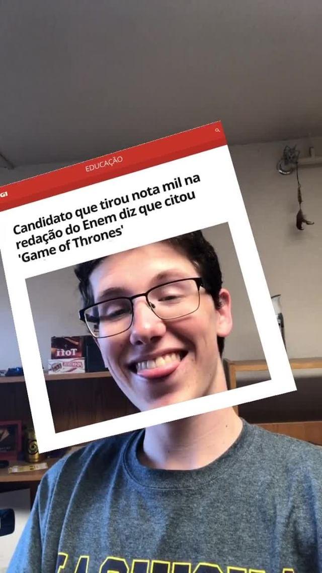 Instagram filter Redação Pop