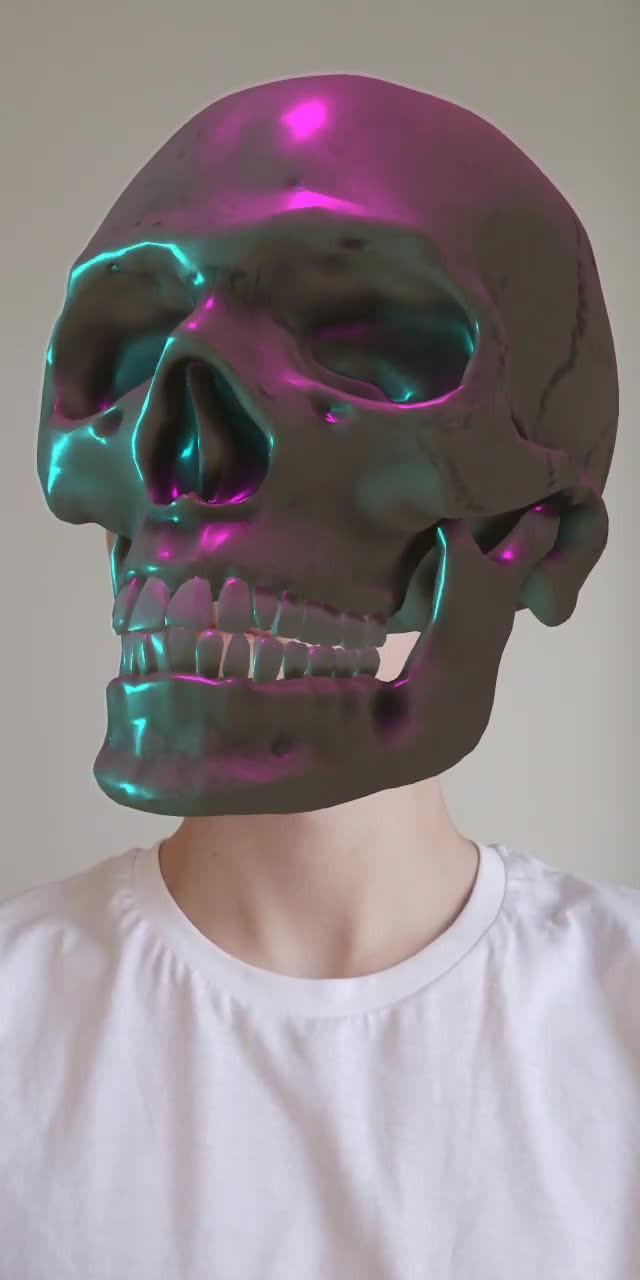 Instagram filter Neon skull