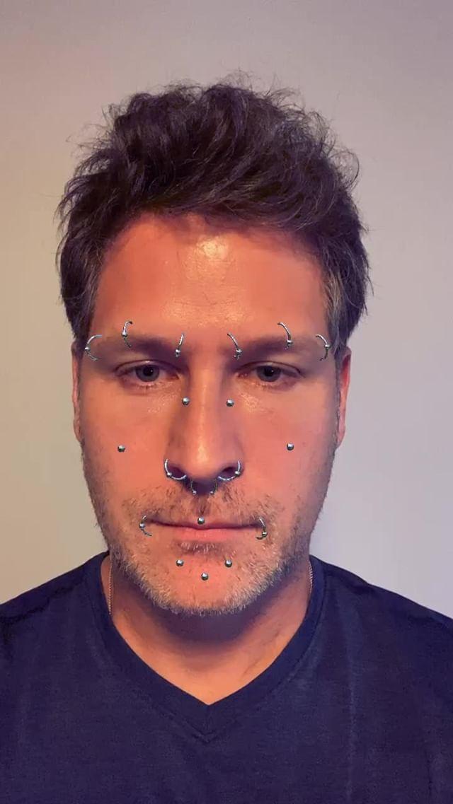 Instagram filter Piercing
