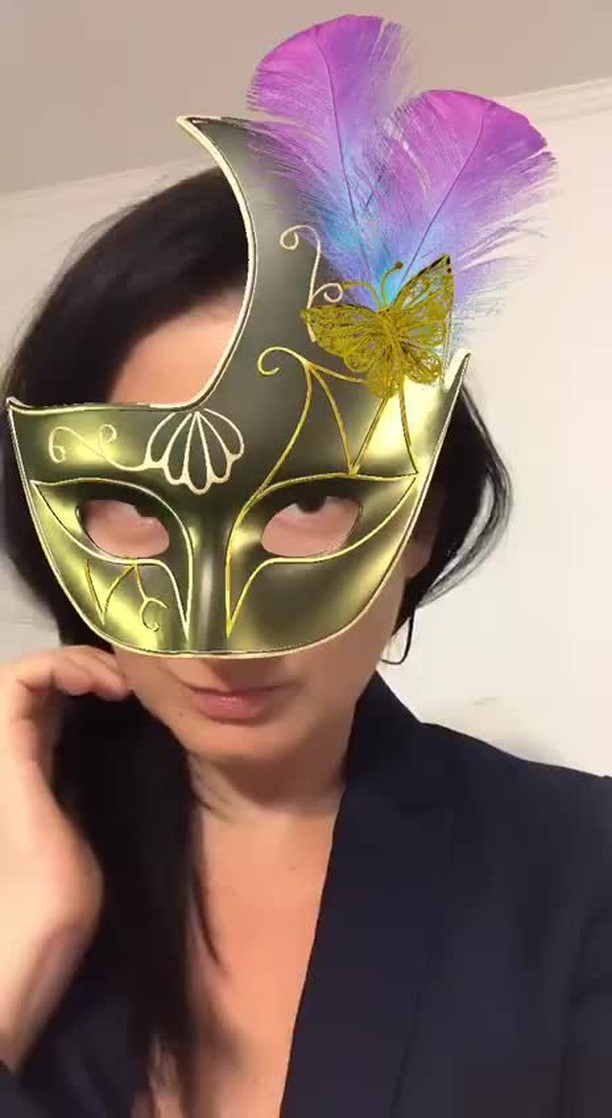 Instagram filter +1 Venecian mask
