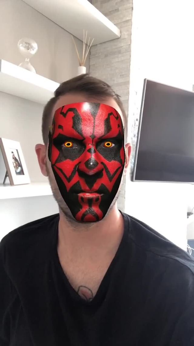 Instagram filter DARTHMAULMASK