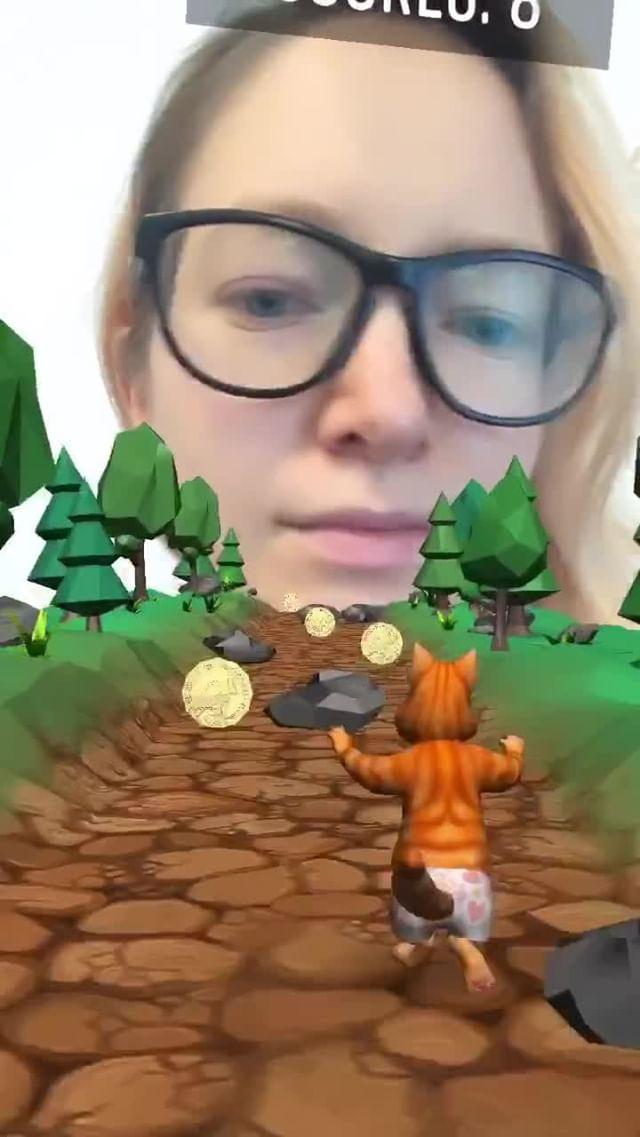 inboundingbox Instagram filter Running Kitty Game