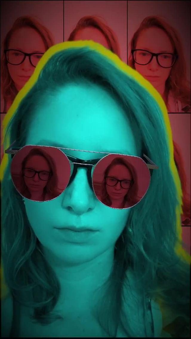 Instagram filter Acid Selfie