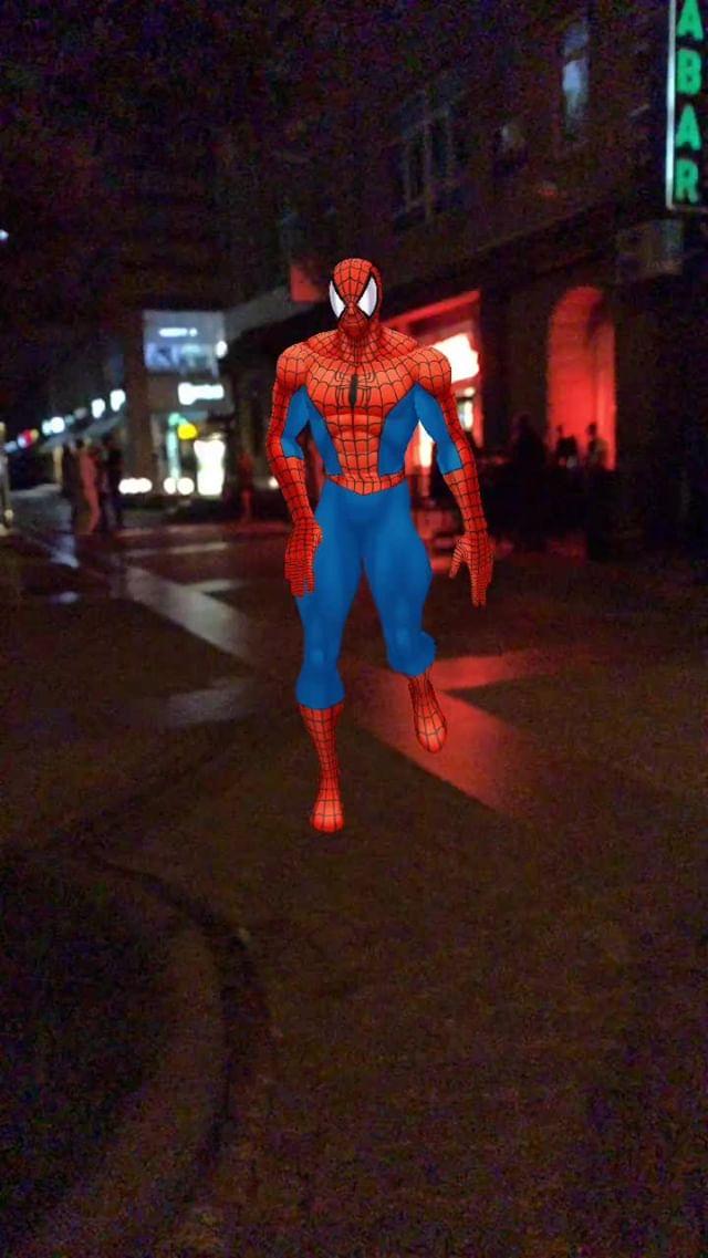 Instagram filter dancing spiderman