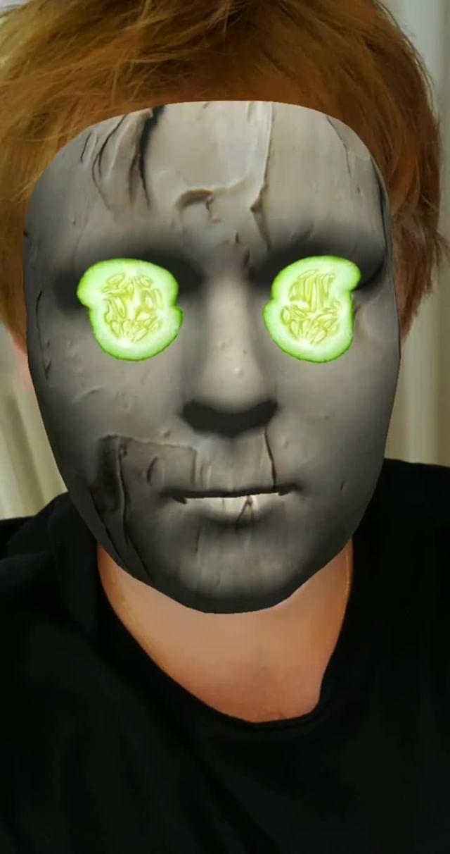 turistastv Instagram filter Cucumber mask