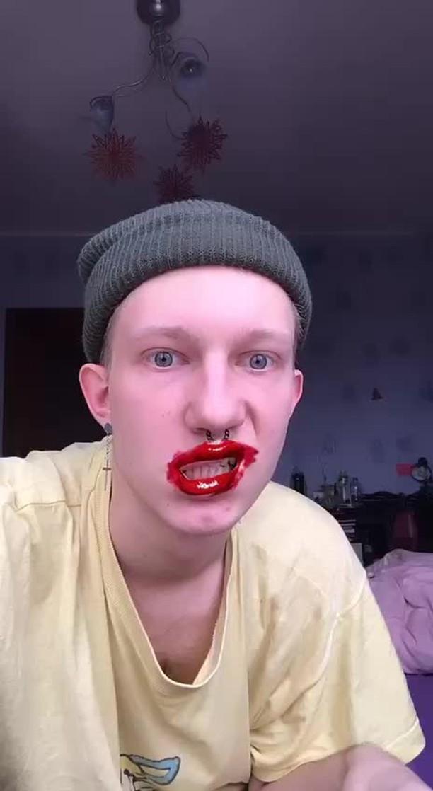 Instagram filter губы