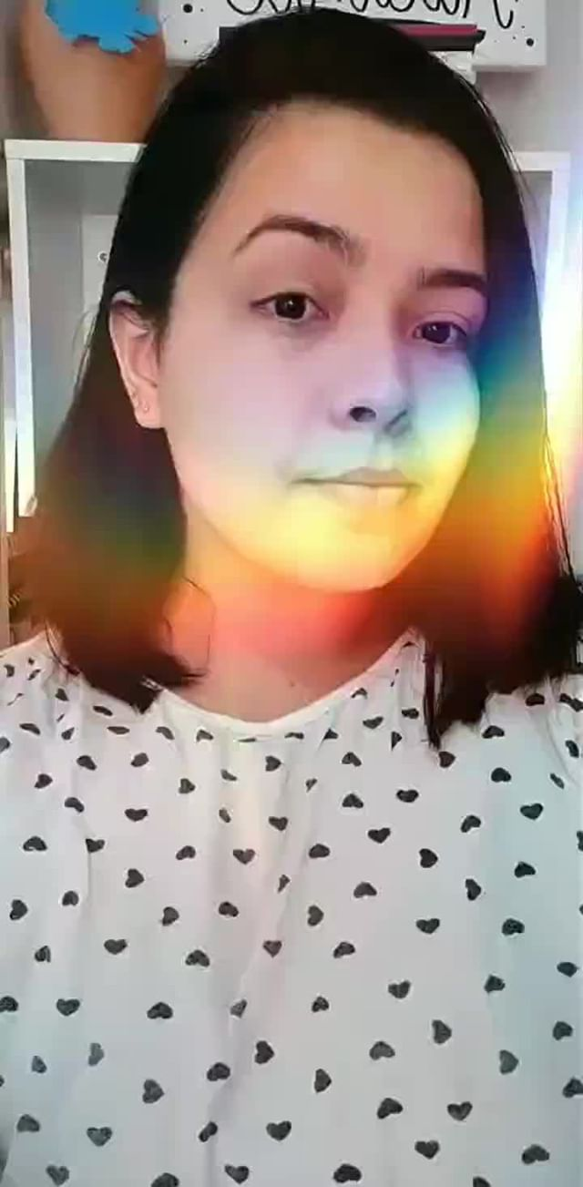 Instagram filter Rainbow Face