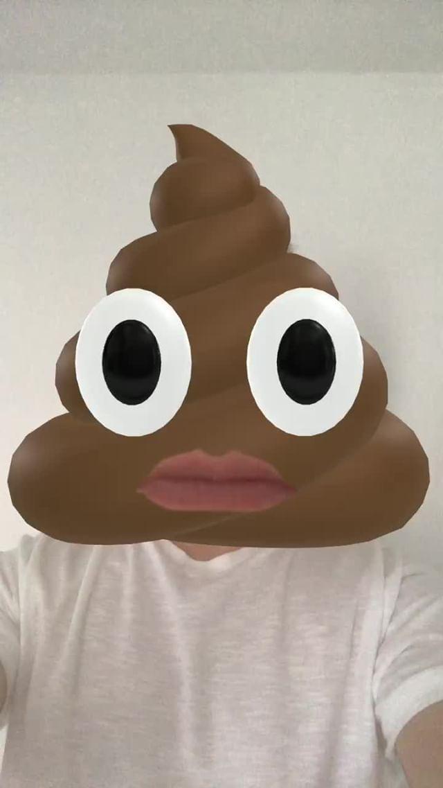 Instagram filter Poop Head