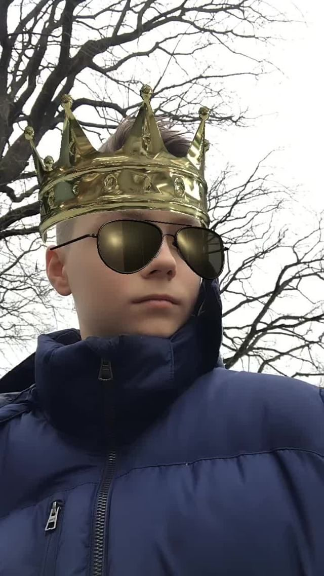 Instagram filter Krone Sonnenbrille