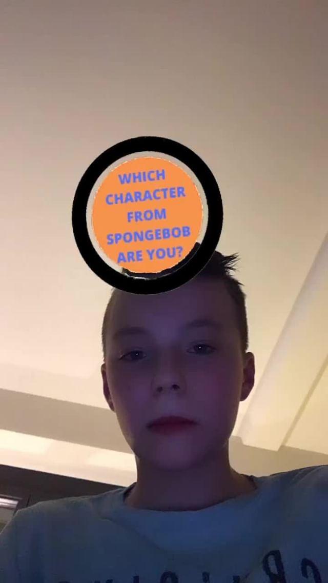 Instagram filter SpongeBob