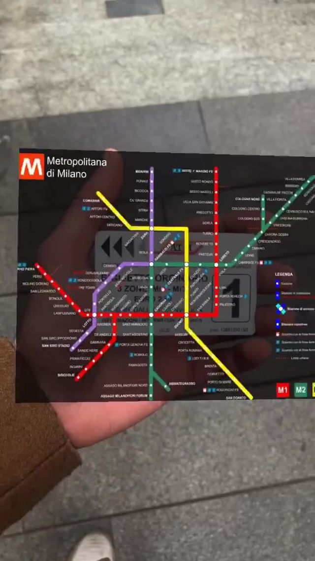 Instagram filter metro.milan.map