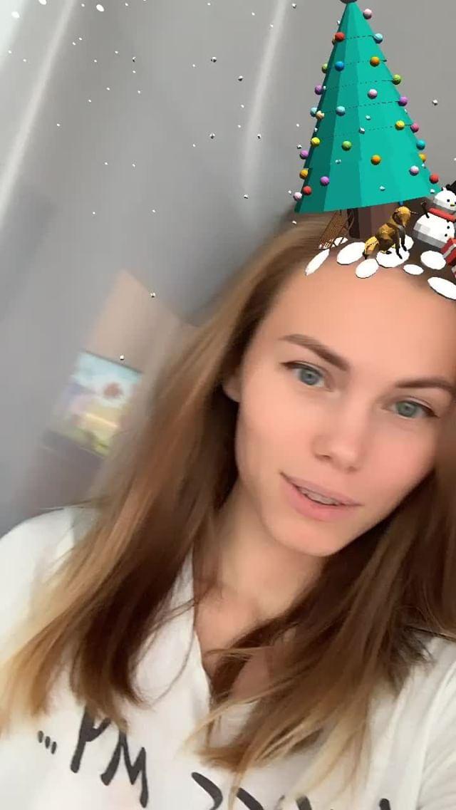 Instagram filter новогодняя