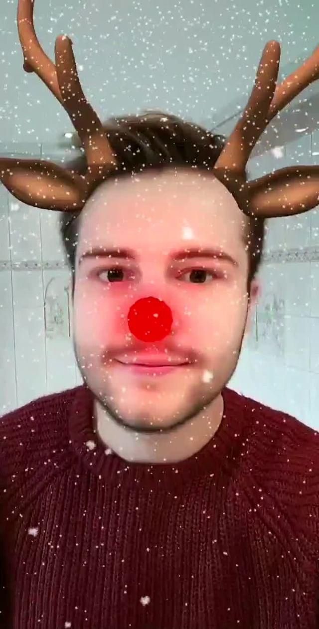 Instagram filter Christmas Reindeer!