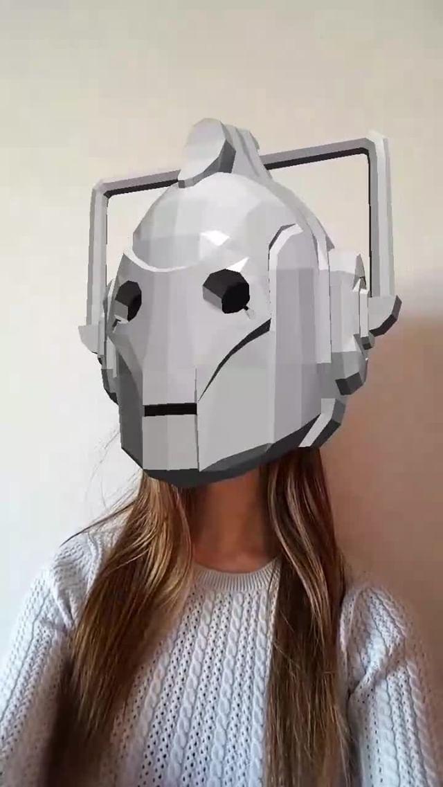 Instagram filter Cyberman - DoctorWho