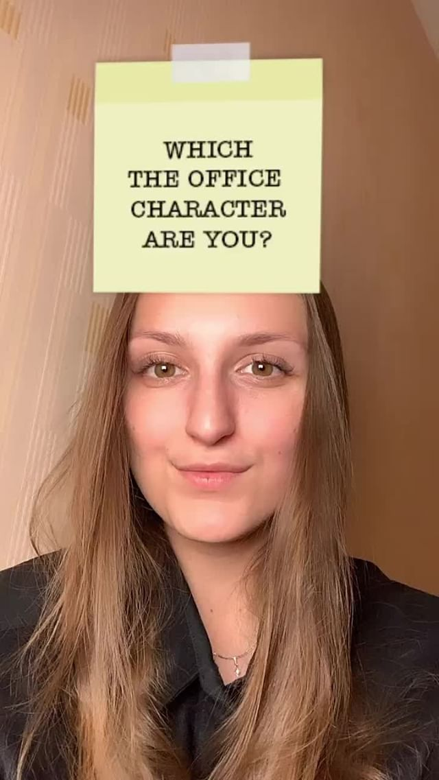 Instagram filter The OFFICE character