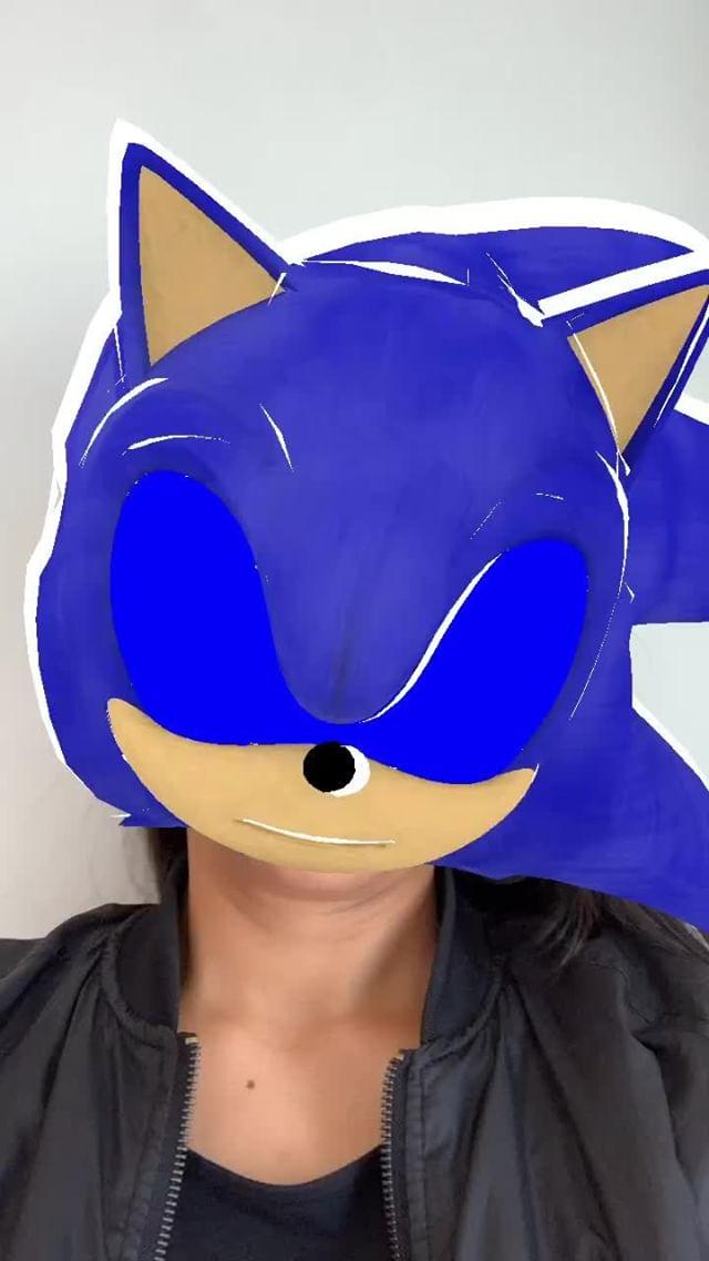 Instagram filter Sonic