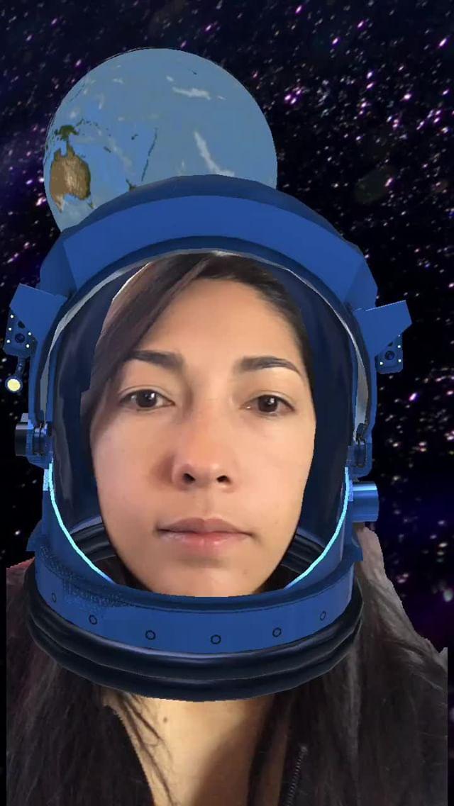 Instagram filter En el espacio
