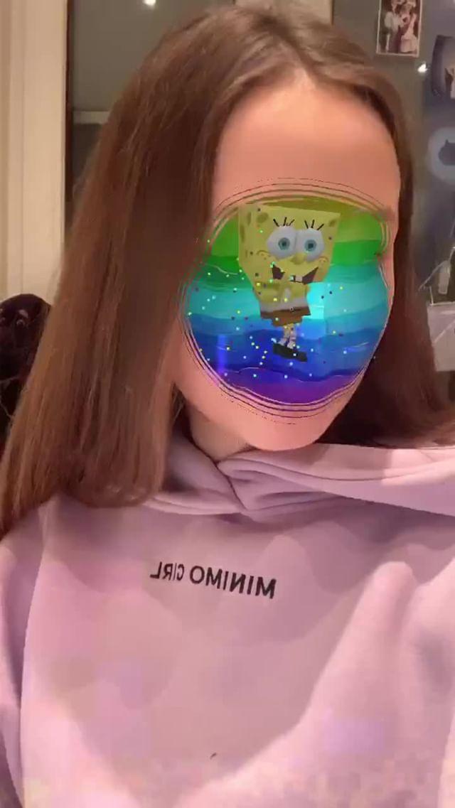 Instagram filter SpongeBob in my head