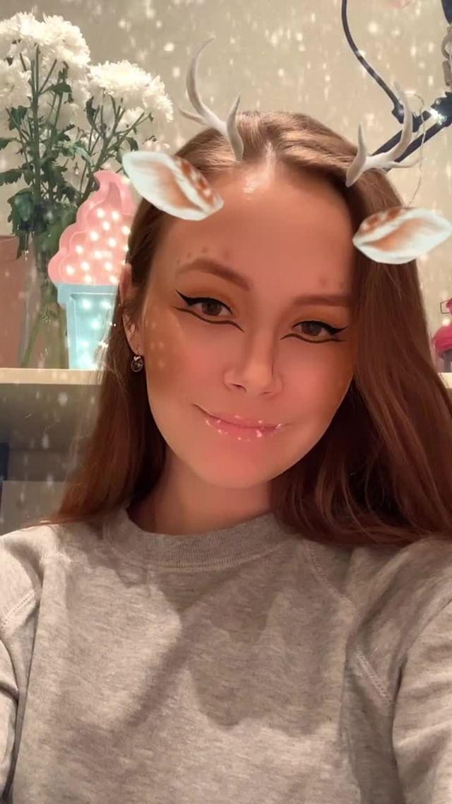 Instagram filter Christmas deer