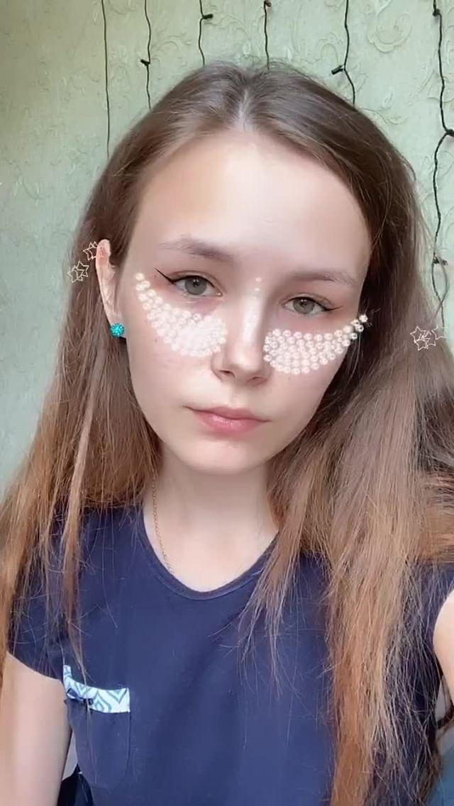 Instagram filter Diamonds Makeup