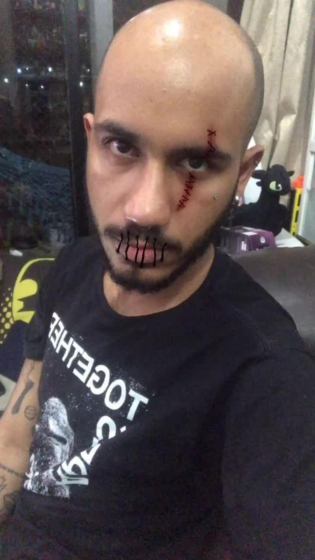 Instagram filter Halloween Scars