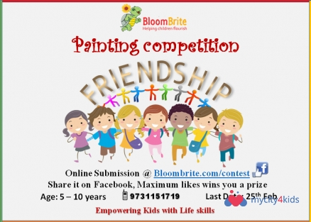 Online Painting competition for kids on Freindship in Online, pune ...