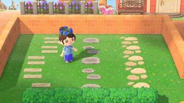 枕木と飛び石