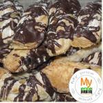 Печенье Мальвина с шоколадной глазурью 350г в упаковке Украина
