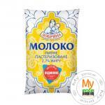 Молоко Добряна пастеризованное 2.7% 900г пленка Украина