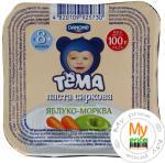 Паста творожная Тёма яблоко-моркрвь детская с 8 месяцев 4.2% 100г пластиковый стакан Украина