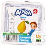 Творог детский Агуша груша 3.9% 100г Украина