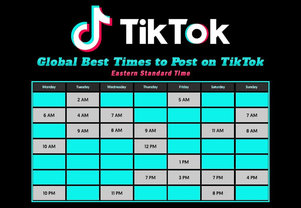 Global-Best-Times-to-Post-on-TikTok
