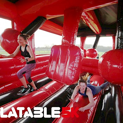 Inflatable 5k at Cheltenham Racecourse