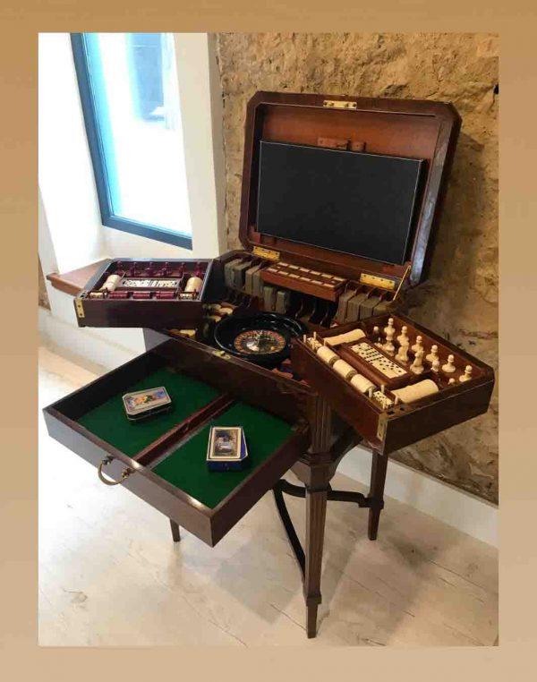 19th Century Antique Games Table