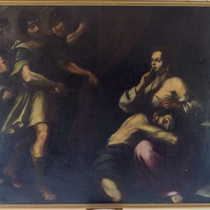 Caravaggesque School - Sampson And Delilah [17th century painting after Caravaggio's style]