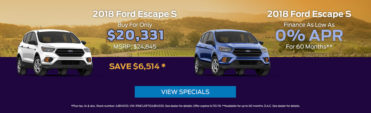 Escape S June Deals