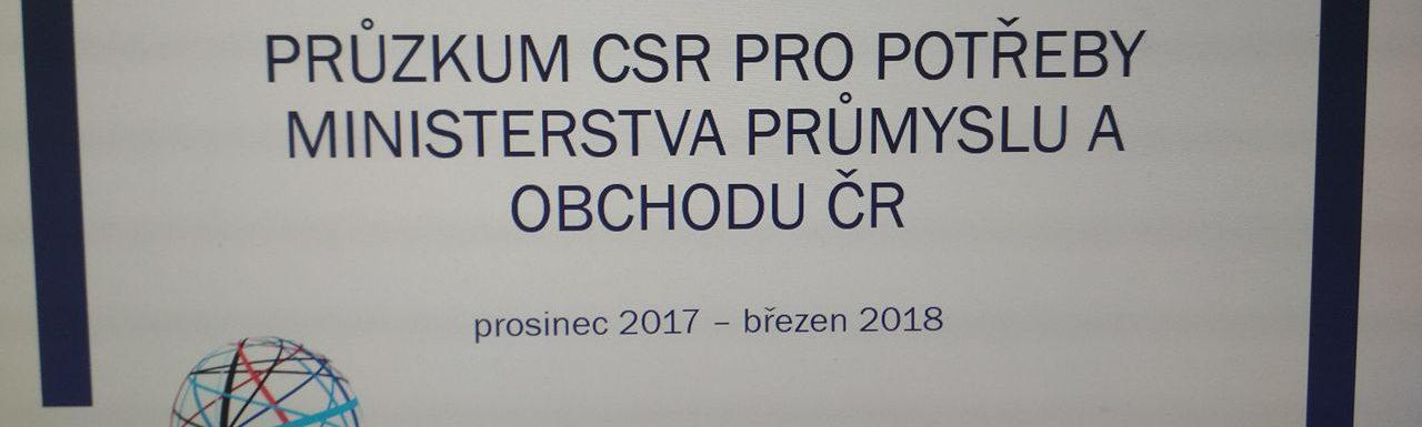 Vyhodnocení dotazníkového průzkumu CSR