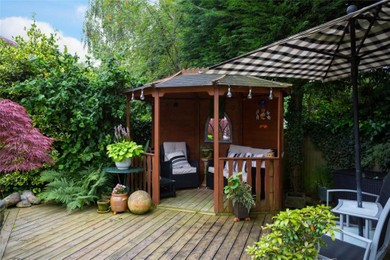 Rest area in the garden