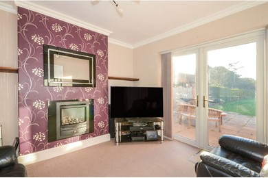 Extensive family living room