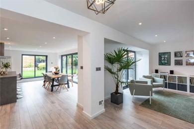 Open floor with living room