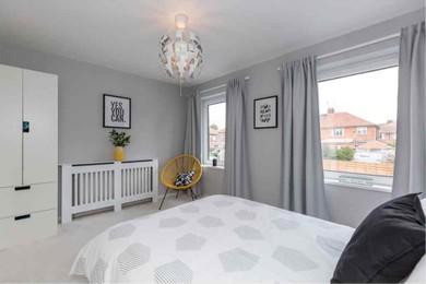 Master white bedroom reformed