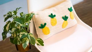Pineapple pillow decoration