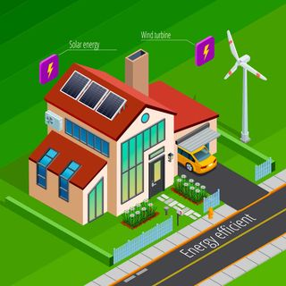 Sustainable property with solar energy