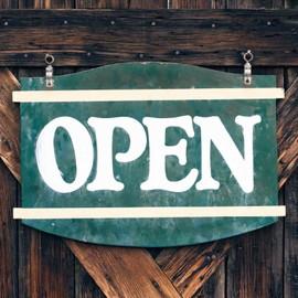 Old open shop veneer