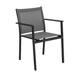 Metal and textile outdoor chair small