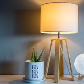 Wood desk lamp small