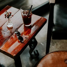 Acacia wood coffee table small